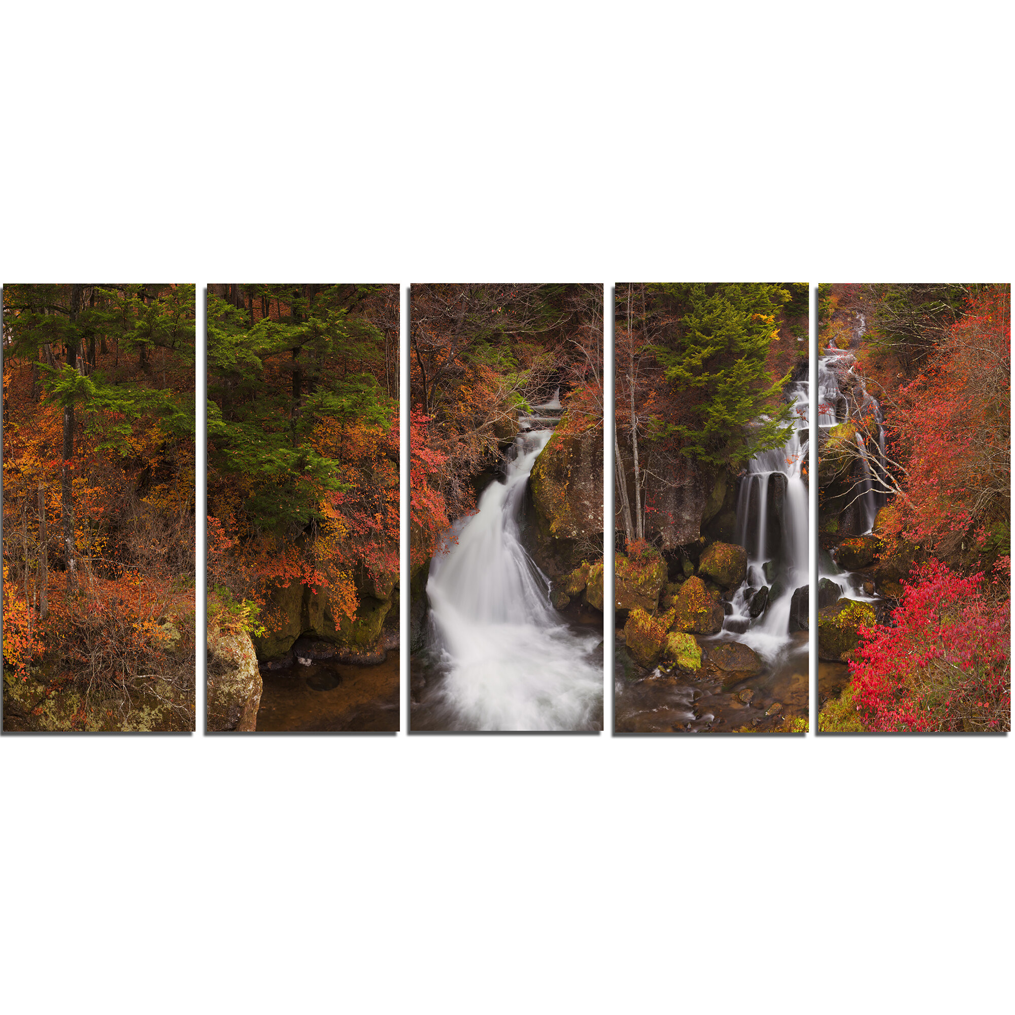 Designart Ryuzu Falls Near Nikko Japan Photographic Print Multi Piece Image On Canvas Wayfair
