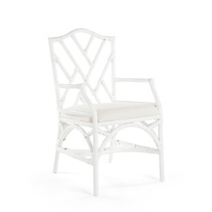 Margrett Rattan Arm Chair (Set of 2) by B..