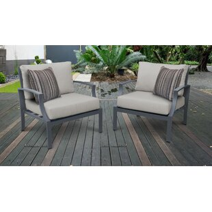 Benner Patio Chair with Cushions (Set of 2)