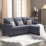 """Sylvette 78.5"""" Reversible Sofa & Chaise with Ottoman"""