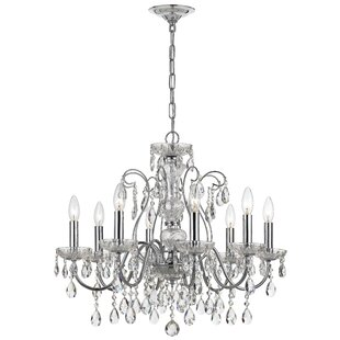 House of Hampton Benjamin 8-Light Candle Style Chandelier