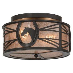 Meyda Tiffany Horseshoe 2-Light Flush Mount