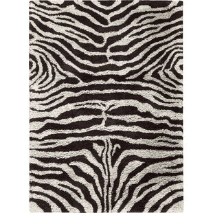Affordable Price Rosalba Hand-Tufted Black/White Area Rug By Bloomsbury Market