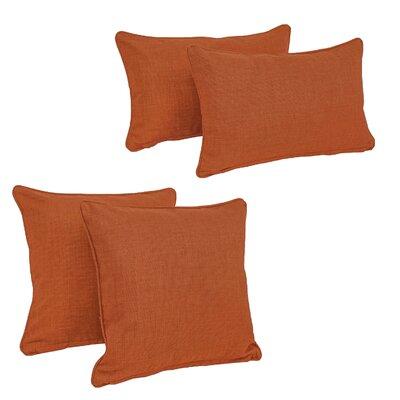Three Posts Dunwich Indoor/Outdoor Throw Pillow Color: Cinnamon