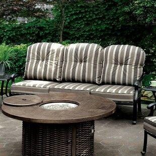 August Grove Severine Patio Sofa with Cushions