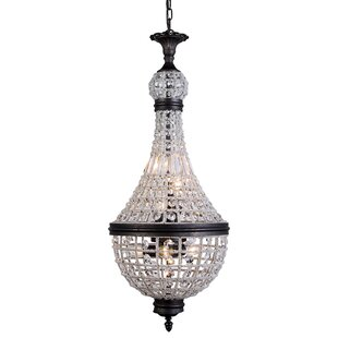 Seth 6-Light Empire Chandelier by Bungalow Rose
