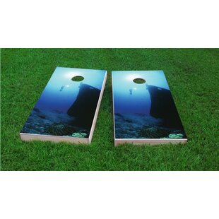 Custom Cornhole Boards Shipwreck Scuba Dive Light Weight Cornhole Game Set