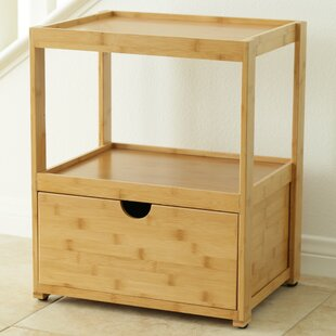 In This Space Natural Bamboo Corner End Table