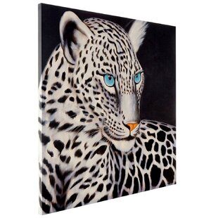 White Leopard Print On Canvas