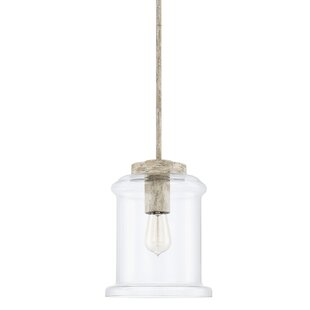 Bungalow Rose Manervia 1-Light Bell Pendant