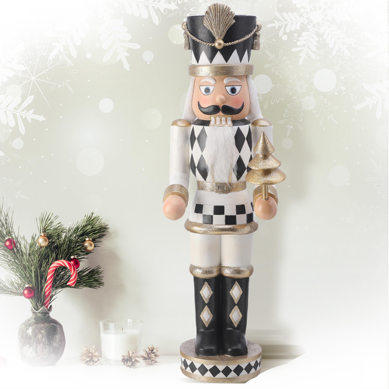 The Holiday Aisle Resin Harlequin Nutcracker Wayfair