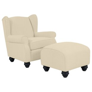 Meltzer Wingback Chair and Ottoman