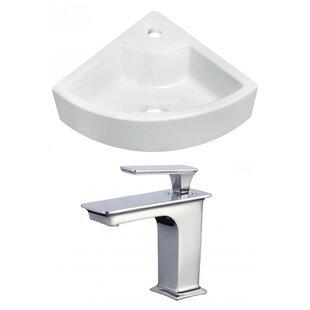 Ceramic 27 Wall Mount Bathroom Sink with Faucet ByRoyal Purple Bath Kitchen