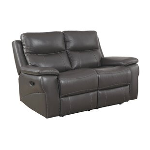 Shop Faulks Leather Reclining Loveseat by Red Barrel Studio