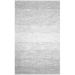 Sanora Hand-Loomed Cotton Black/White Area Rug