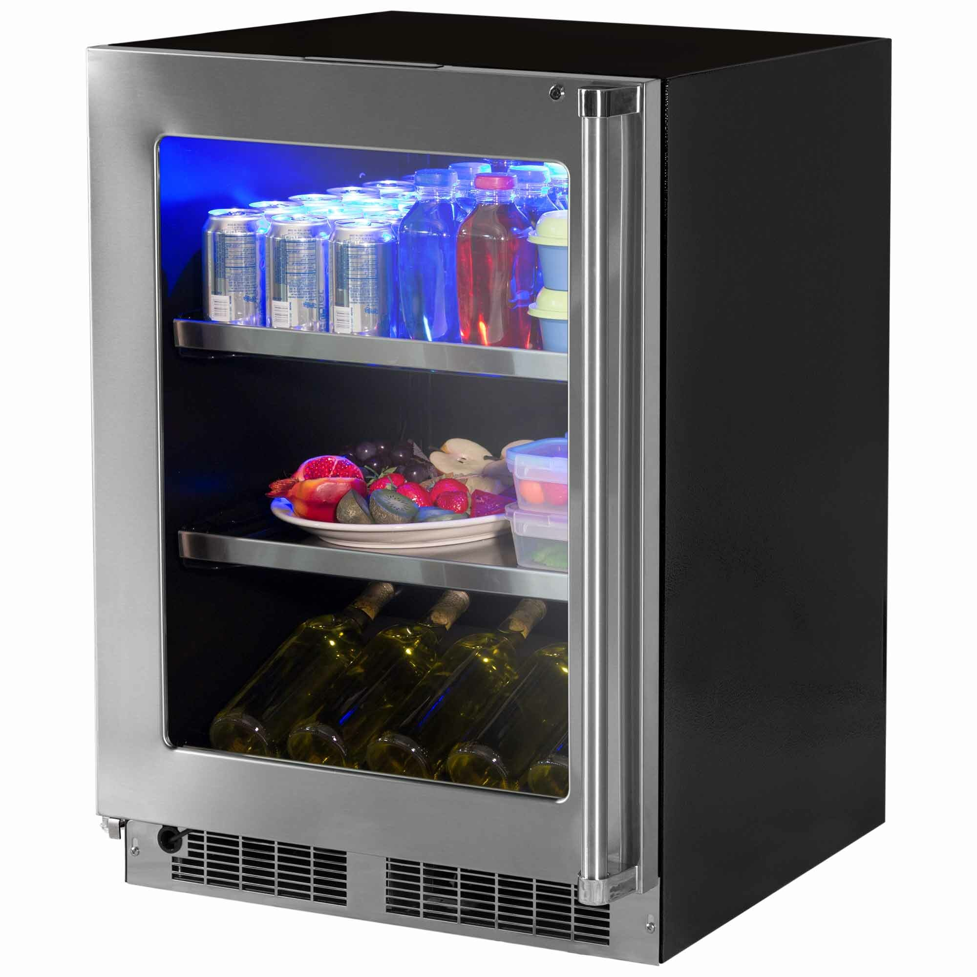 Professional 24 Inch 5 3 Cu Ft Undercounter Beverage Center