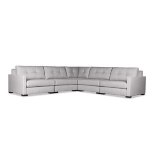 Secrest Buttoned Right and Left Arms L-Shape Standard Modular Sectional
