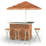 Boston Brick 8 Piece Bar Set