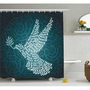 Lyndsay Dove Symbol with Peace Single Shower Curtain