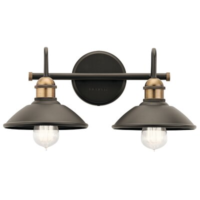 17 Stories Cowans 2 Light Vanity Light