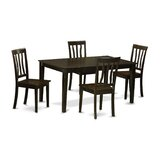 Smyrna 5 Piece Solid Wood Dining Set by Charlton Home®