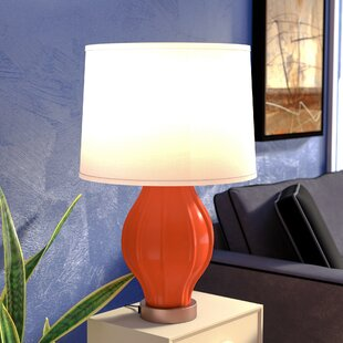 Park Place Fluted 26 Table Lamp with USB Base