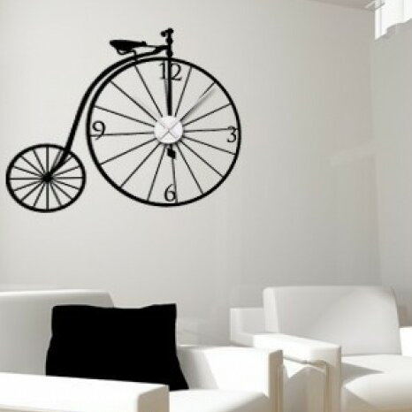 Bicycle Wall Clock Wall Decal & Style and Apply Bicycle Wall Clock Wall Decal | Wayfair