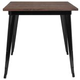 Derbyshire Rustic Metal Dining Table by Williston Forge