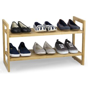 Reviews 2-Tier 6 Pair Shoe Rack By Sunbeam