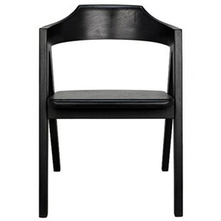 Noir Anan Solid Wood Dining Chair