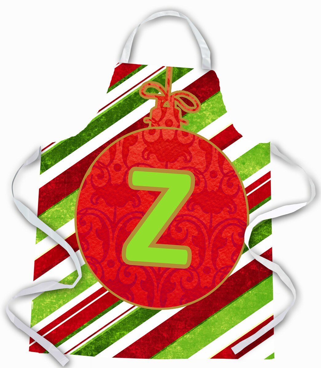 The Holiday Aisle Christmas Ornament Holiday Initial Letter Z Apron Wayfair
