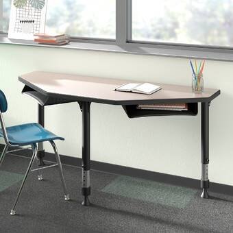 Wood Designs Manufactured Wood 17 Adjustable Height Multi Student Desk Wayfair