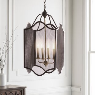 Brody Transitional 4-Light Lantern Chande..