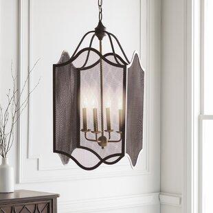Brody Transitional 4-Light Lantern Chandelier by Gracie Oaks