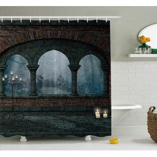 Socorro Fantasy Fiction Forest With Giant Mushrooms and Elves Magical Fairy Enchanted Image Single Shower Curtain