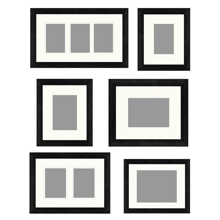 Elegant 6 Piece Gallery Wall Picture Frame Set