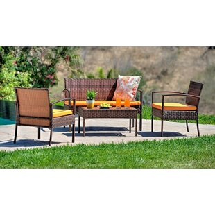 Tindal 4 Piece Sofa Seating Group with Cushions