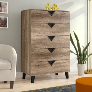 Elio 5 Drawer Chest by Wrought Studio