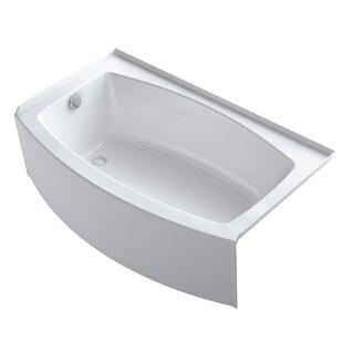 Expanse Curved 60 x 30 Tile In Soaking Bathtub By Kohler