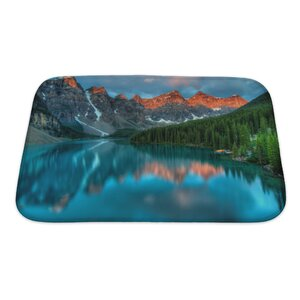 Landscapes During The Morning Sunrise at Moraine Lake, Banff National Park Bath Rug
