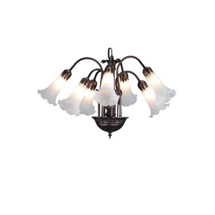 Guide to buy Pond Lily 7-Light Shaded Chandelier By Meyda Tiffany