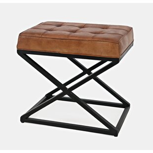 Lorilee Leather Tufted Ottoman