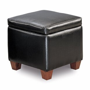 Winston Porter Isakson Leather Storage Ottoman