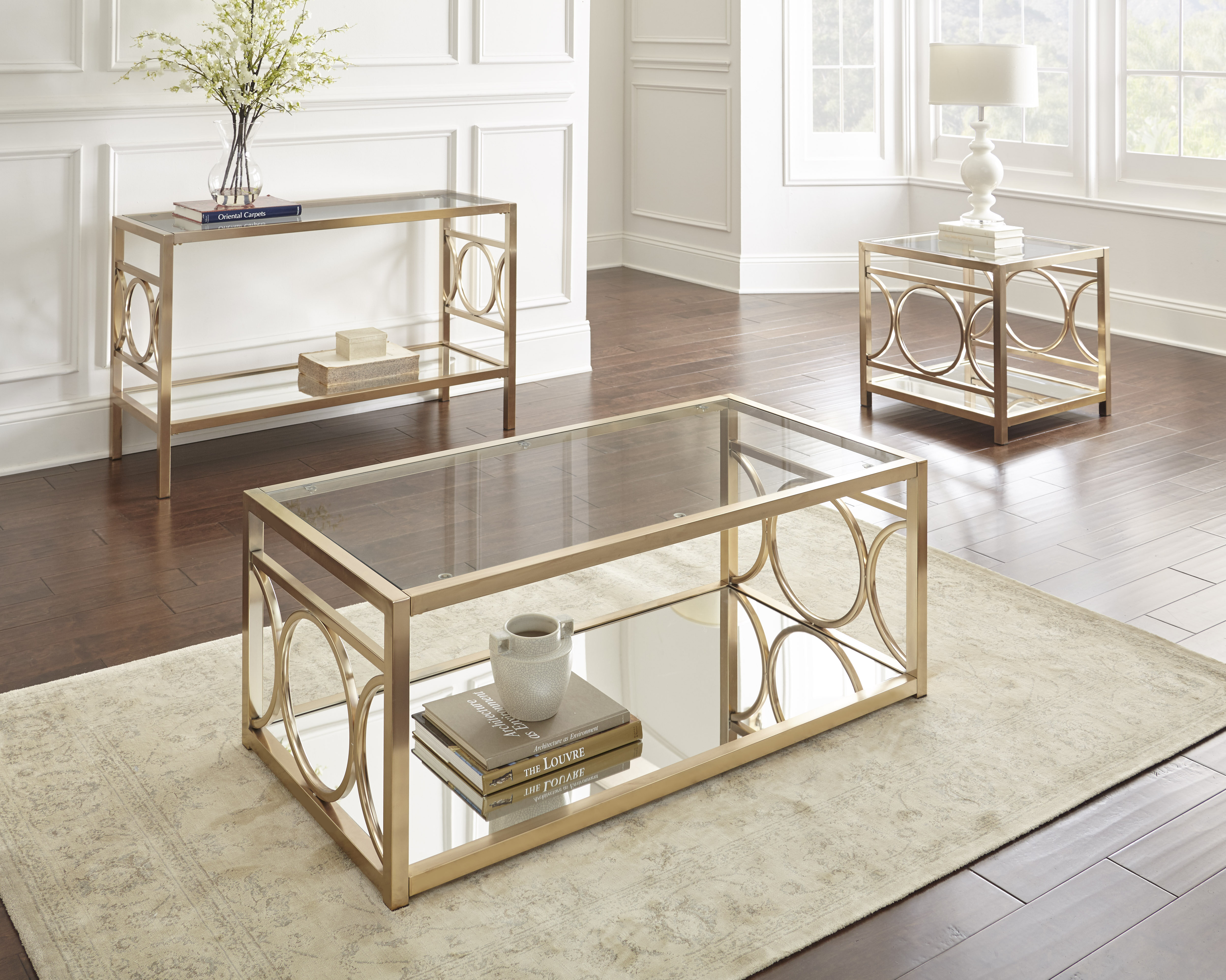 Picture of: Willa Arlo Interiors Astor 3 Piece Coffee Table Set Reviews
