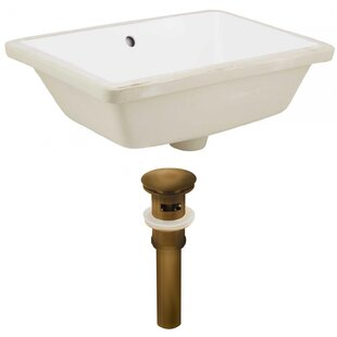 Reviews Ceramic Rectangular Undermount Bathroom Sink with Overflow By American Imaginations