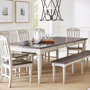 Kaye Wooden Rectangular Extendable Dining Table