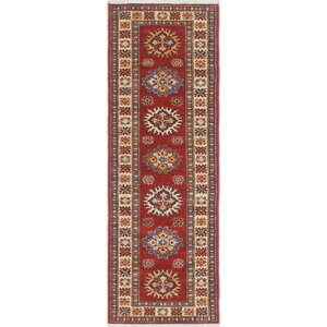 One-of-a-Kind Chanell Zaland Hand-Knotted Wool Red Area Rug