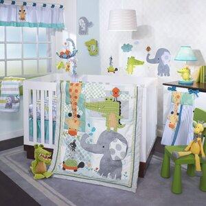 Yoo-Hoo 4 Piece Crib Bedding Set