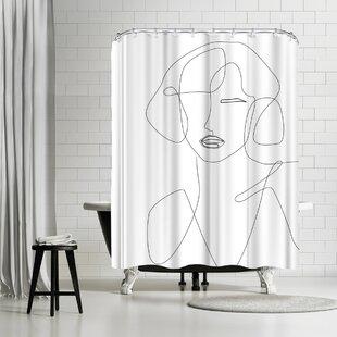 East Urban Home Explicit Design Feminine Touch Shower Curtain