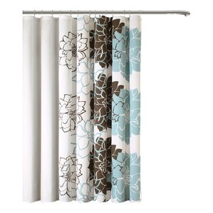 chocolate coral and gold shower curtain. Broadwell Cotton Shower Curtain Brown Curtains You ll Love  Wayfair